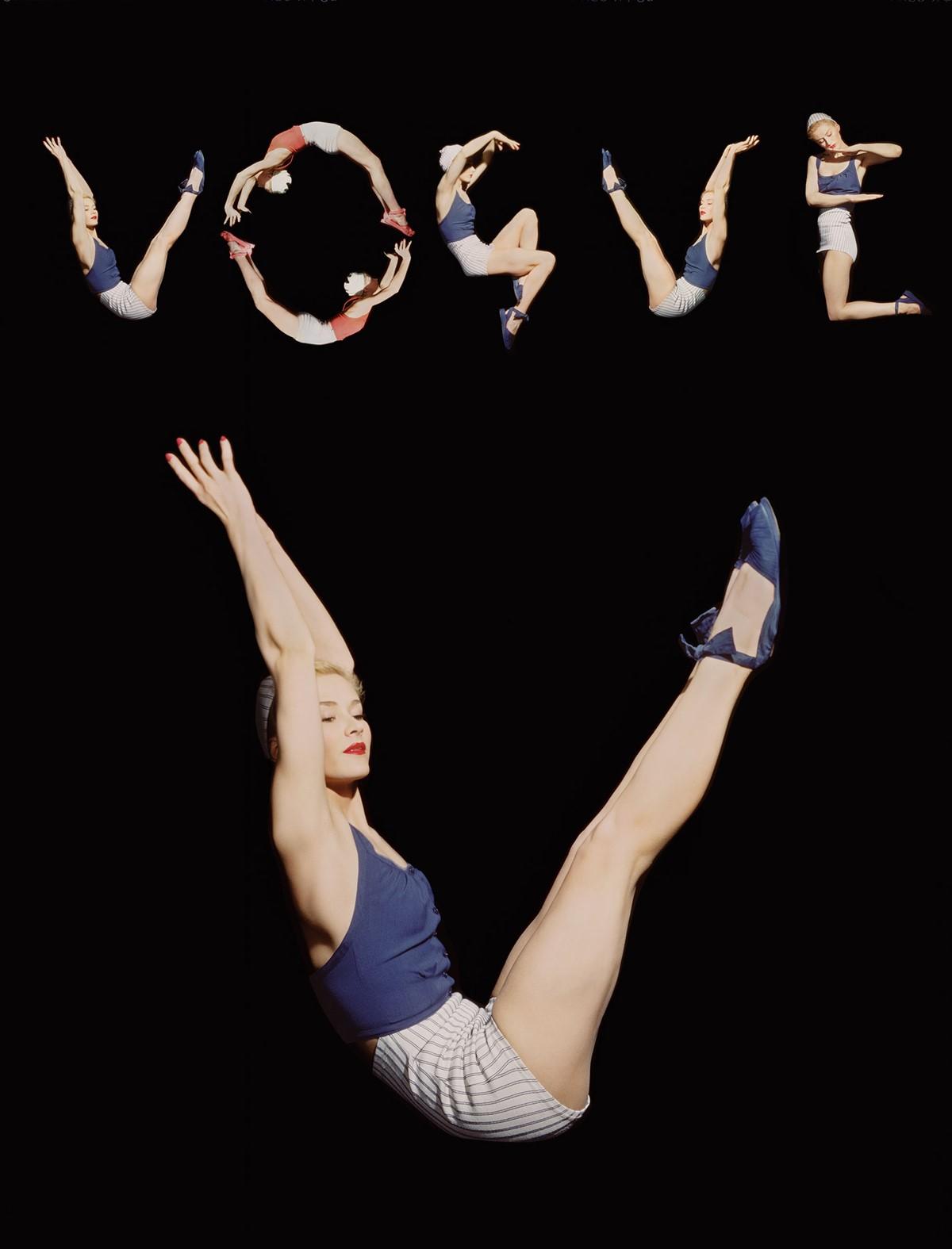 vogue,cover,letters,logo with models,horst,horst p. horst