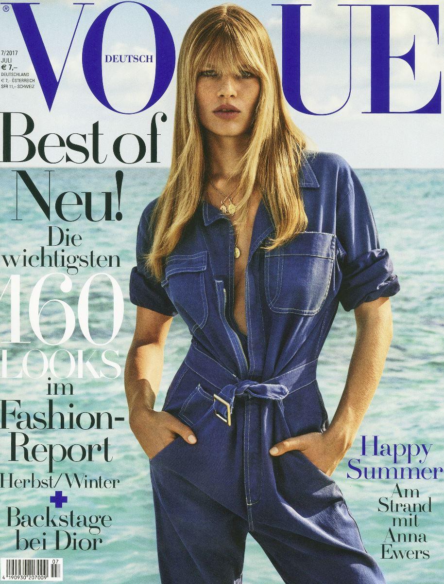 anna ewers,cover,magazine,vogue