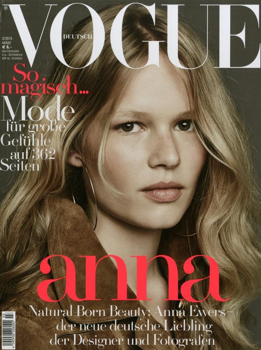 anna ewers,cover,magazine,vogue,deutsch,germany